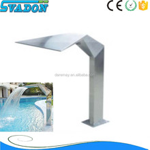 Factory supply stainless steel swimming pool outdoor waterfall/pool spa waterfall