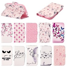 Fashion Painted Case Leather Flip Cover For Samsung Galaxy Grand Neo Plus i9060 Wallet Cases With Stand Function