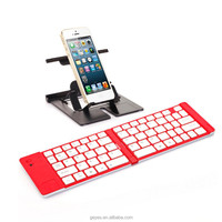 New Aluminium alloy wireless Bluetooth folding keyboard.Gift customization.Factory direct sales. Original authentic
