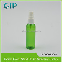 120ml green plastic botle pet plastic bottle cosmetic