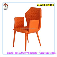 new product all PU cover dining chair with armrest comfortable chairs C5011