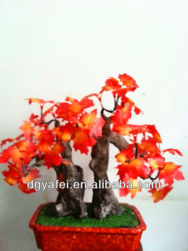 Home decoration lighted LED fake maple bonsai tree