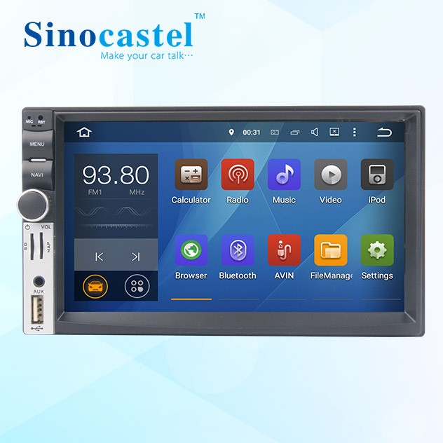 2 din Car DVD Player 7 inch for Universal based on Quad core Android 5.1.1