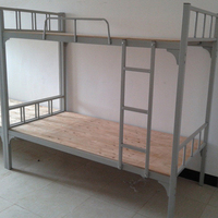 China wholesale durable school dormitory new design steel bunk bed with ladders