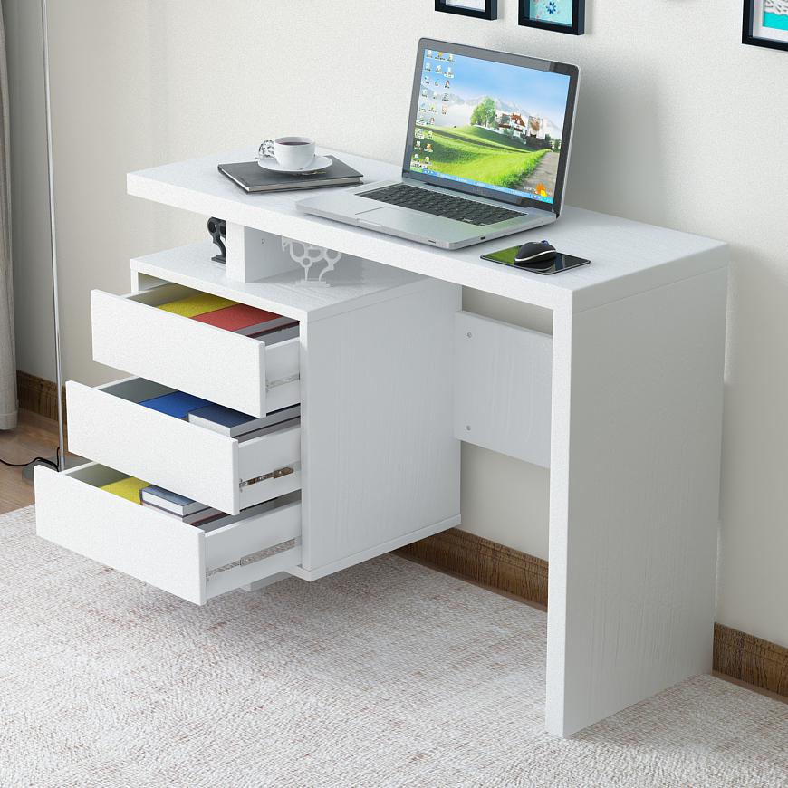 office computer desk with MDF
