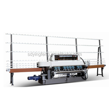 JFB-261 glass beveling machine with 9 wheels / Glass Bevel Edge Machine with Video