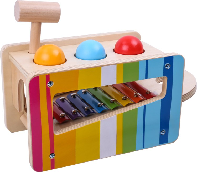 Deluxe Pound Tap Bench Wood Musical Instruments Baby toy