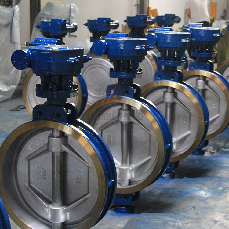 Cheap price WCB stainless steel triple eccentric wafer butterfly valve supplier