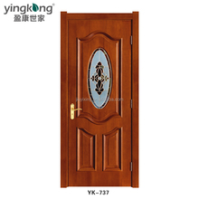 China supplier waterproof insulated interior wooden doors with inner door made of solid wood porta interna in legno massello