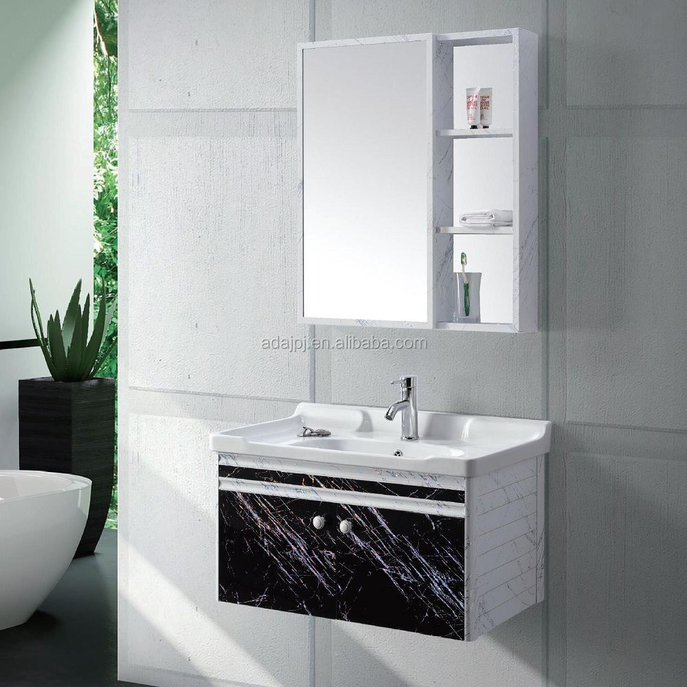 Foshan muebles de ba o vanidad pared econ mico montado aluminio 800mm foshan gabinete tocadores - Muebles de bano de aluminio ...