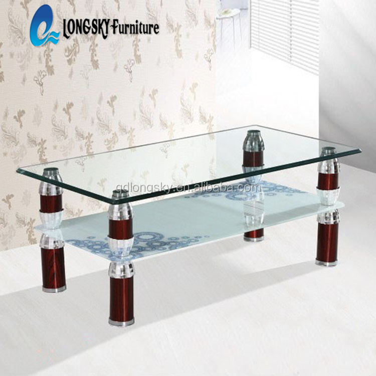 LS-1042 tempered glass coffee table (factory manufacturer) modern cofe table hot sale coffee table series