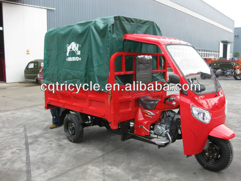 Chinese cargo three wheel covered motocycle trikes