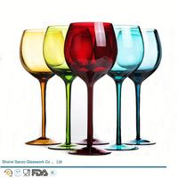 Sanzo Handmade Glassware Manufacturer wine glass oil painting