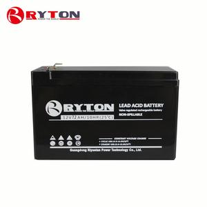 RYTON POWER 12v rechargeable storage smf 6v 7ah lead acid charger solar cell battery