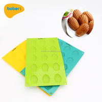 factory price of baking tool silicone cake mold top quality of non-toxic 15 pcs shell cake mold