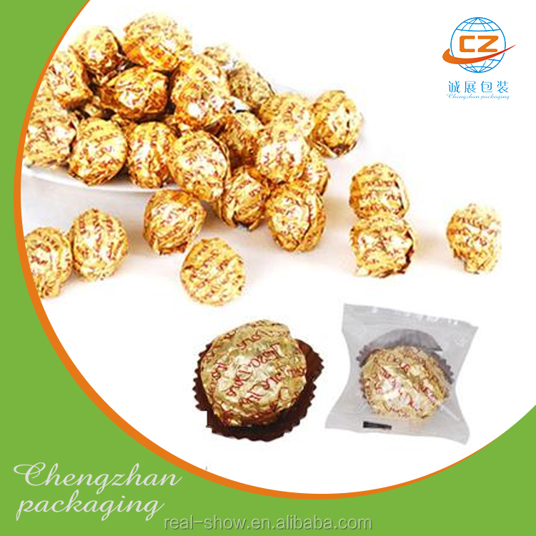 Gold aluminum foil for chocolate wrapper