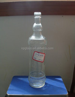750ml good clear spirit/liquor/alcohol glass bottle