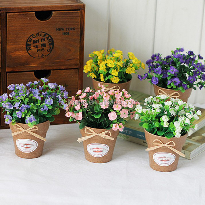 Korean mini potted series artificial flowers suit for wedding decor
