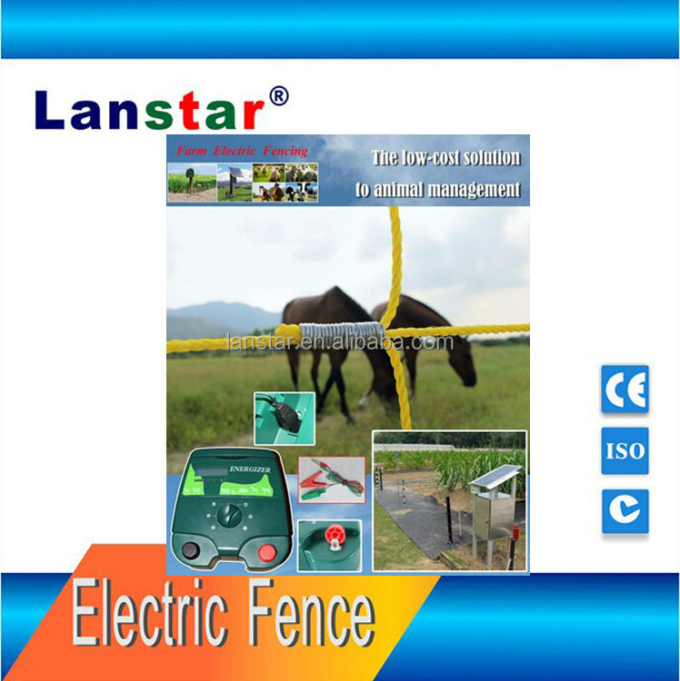 Lanstar solar powered farm electric fence energizer/ energiser forest fence products