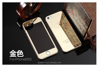 9H 2.5D Front+Back Color Mirror Premium Screen Protector plating tempered glass cover for iphone4/4s protective film