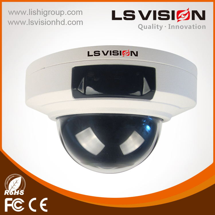 LS VISION indoor ceiling cameras motion sensor security camera system 5mp fishery 360 degree IP camera, video recorder available