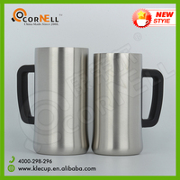 Newest design Hot selling with handle Vacuum technique Double wall Stainless Steel Logo Color customized Coffee mug