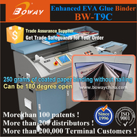 600 pages thickness measure EVA glue hot melt adhesive book binding machine