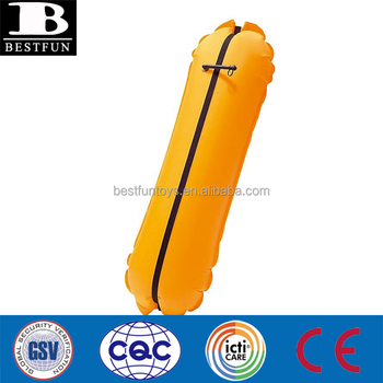 high quality inflatable buoy fabric plastic inflatable training buoy folding portable inflatable swimming buoy dive buoy