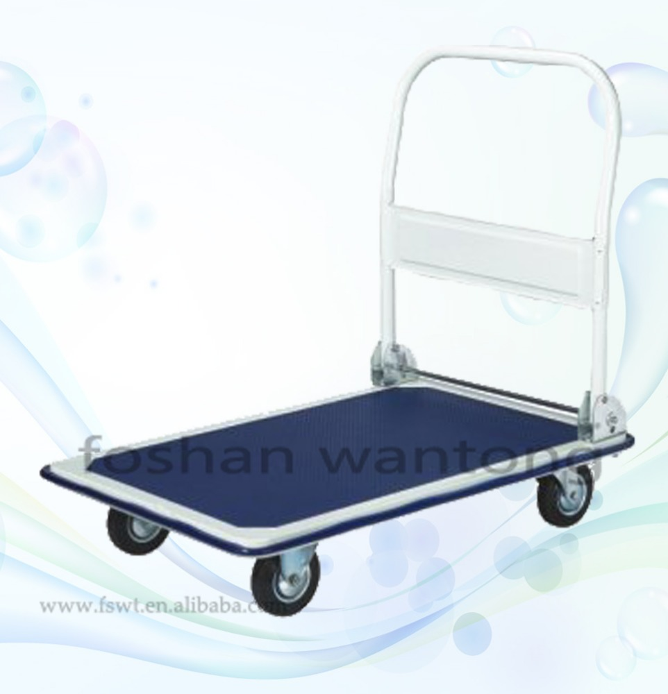 Heavy Duty Transportation Foldable Platform Plastic Hand Truck Moving Dolly