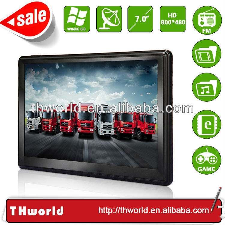 2014 Wholesale Checkout 7 inch handheld gps navigation with 800MHz CPU 4GB Memory only $33