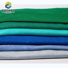 ISO quality guarantee weft knitted 100% fashion linen jersey fabric for men's shirt