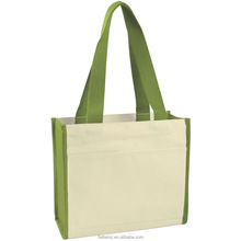 Foldable canvas recycled shopping bag/shopping bag cotton