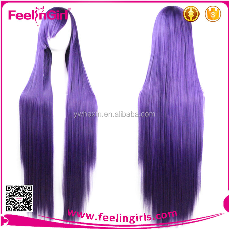 Fashion Hot Selling Long Straight Cosplay Wig Wholesale Synthetic Wigs Made In China