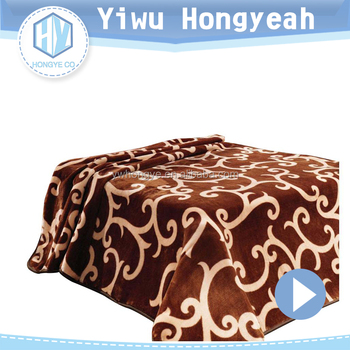 Winter warm weighted high quality super soft raschel blanket