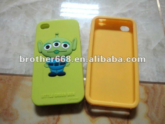 2013 hot sell! smart cute 3D animal cartoon design phone case / customized silicone mobile phone cases