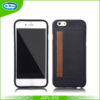 New Unique Slim Design Leather Card Back Cover Case for iphone 6
