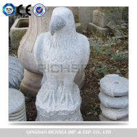 China custom decorative garden stone carving eagle sculpture statue for garden