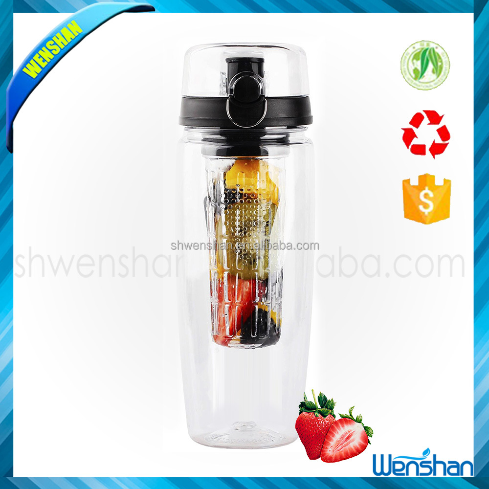 100% bpa free leak proof disposable bottle plastic fruit infuser soda water bottle