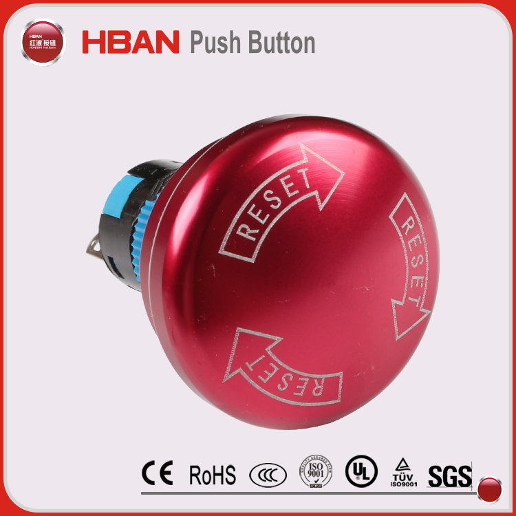 19mm dia emergency stop mushroom button switch,emergency exit button,emergency reset button