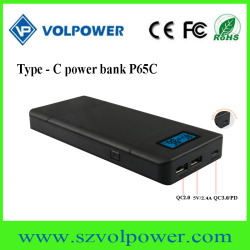 New electronics 2018 P65C 40W QC3.0 5v 9v 12v 15v 20v 3A mobile battery type c with pd