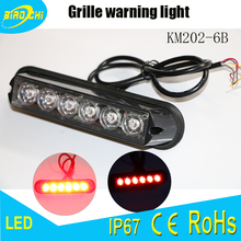 China manufacturer universal led emergency warning light used in vehicle grille rear side