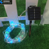 Solar panel outdoor led christmas meteor shower light solar power with transparent tube