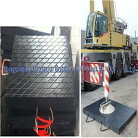 OEM customized black UHMWPE truck mounted cranes outrigger pads