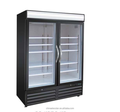 ventilated refrigerated double glass doors cooler , kitchen refrigeration, vertical display showcase, glass door merchandiser