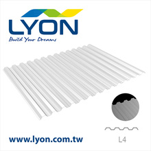 L4 GRECA Diffused Polycarbonate Corrugated Roofing Sheet