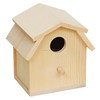varnished stain color factory Wholesale Hot selling Wooden bird House