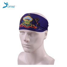 Factory price polyester spandex custom digital print headband