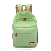 hot selling fashion life color canvas backpack girl for leisure light weight