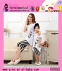 2015 Alibaba China Hot Sale Printed Dress Summer Plus Size Casual Style Mother Daughter Matching Dress