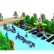 2018 New style Outdoor children Music Series slide park amusement playground equipment